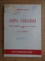 Anticariat: Alexandr Popovschi - Arta creatiei (1949)