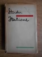 Anticariat: Alexandru Balaci - Studii italiene (prima editie, 1958)