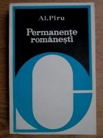 Alexandru Piru - Permanente romanesti (cu autograful autorului)
