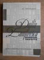 Anticariat: Alexandru Sandulescu - Duiliu Zamfirescu. Scrisori inedite