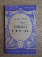 Alfred de Vigny - Poesies choisies