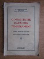 Alfred Dimolescu - Constitutie, Caracter, Temperament, Studiu psihopatologic (1931)