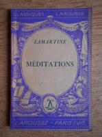 Alphonse de Lamartine - Meditations (1934)