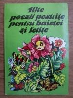 Alte poezii pestrite pentru baietei si fetite