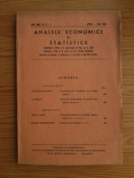 Anticariat: Analele economice si statistice, anul 27, nr. 4-7, 1944