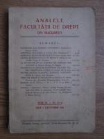 Anticariat: Analele Facultatii de Drept din Bucuresti (anul III, nr. 3-4, iulie-decembrie 1941)