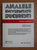 Anticariat: Analele Univeritatii Bucuresti. Stiinte politice, anul XVI, nr. 1, 2014
