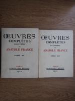 Anticariat: Anatole France - Ouevres completes (2 volume, 1929)