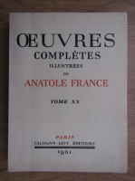 Anticariat: Anatole France - Ouevres completes (volumul 20, 1931)