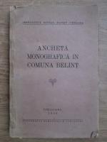Ancheta monografica in comuna Belint