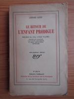 Andre Gide - Le retour de l'enfant prodigue (1934)