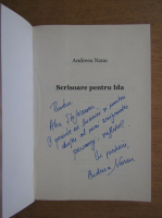 Anticariat: Andreea Nanu - Scrisoare pentru Ida (cu autograful autorului)