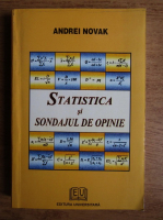 Anticariat: andrei novak - Statistica si sondajul de opinie