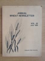 Anticariat: Annual wheat newsletter, vol. 32, iunie 1986
