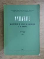 Anuarul Institutului de istorie si arheologie A. D. Xenopol, XVIII, 1981