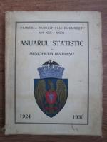 Anuarul statistic al municipiului Bucuresti 1924-1930