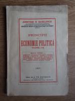 Anticariat: Aristide N. Basilescu - Principii de economie politica (volumul 2, 1927)