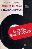 Anticariat: Aristita Negreanu - Dictionar francez-roman