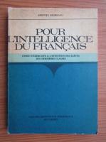 Aristitia Negreanu - Pour l'intelligence du francais