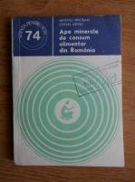 Anticariat: Artemiu Pricajan - Ape minerale de consum alimentar din Romania