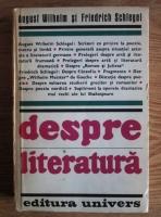 August Wilhelm - Despre literatura