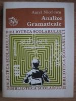 Aurel Nicolescu - Analize gramaticale