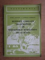 Aurel Radutiu - Supplex libellus valachorum in variantele romanesti de la Schei