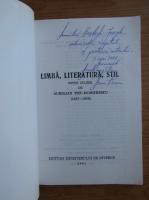 Anticariat: Aurelian Titu Dumitrescu - Limba, literatura, stil (cu autograful si dedicatia autorului pentru Balogh Jozsef)