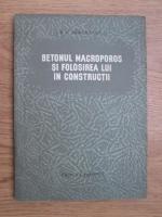 B. G. Skramtaev - Betonul macroporos si folosirea lui in constructii