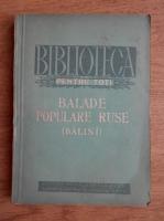 Anticariat: Balade populare ruse (Balini)