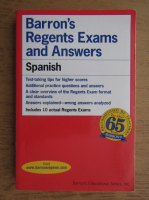 Anticariat: Barron's Regents Exams and Answers, spanish