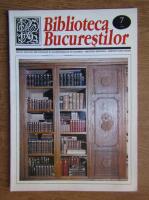 Anticariat: Biblioteca Bucurestilor, Numarul 7, iulie 2001