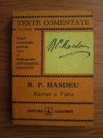 Anticariat: Bogdan Petriceicu Hasdeu - Razvan si Vidra (texte comentate)
