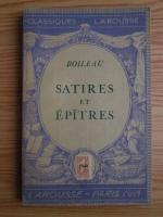 Anticariat: Boileau - Satires et epitres (1933)
