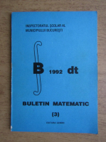 Buletin matematic, nr. 3
