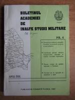 Buletinul Academiei de inalte studii militare, nr. 4, 1996