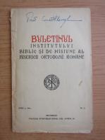 Anticariat: Buletinul institutului biblic si de misiune al bisericii ortodoxe romane, anul I, nr. 2, 1941