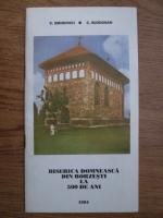 C. Eminovici, C. Buzdugan - Biserica domneasca din Borzesti la 500 de ani