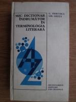 C. Fierascu, Gh. Ghita - Mic dictionar indrumator in terminologia literara