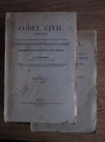 Anticariat: C. Hamangiu - Codul civil adnotat (2 volume, 1925)