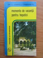 C. Ionescu Tirgoviste - Memento de vacanta pentru hepatici