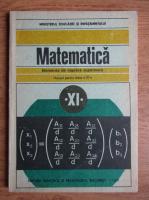 C. Nastasescu - Matematica. Manual pentru clasa a XI-a. Elemente de algebra superioara