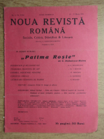 C. Radulescu-Motru - Noua Revista Romana. Sociala, critica, stiintifica si literara, vol. XVIII, nr. 3, 20-27 martie 1916