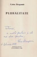 Anticariat: Caius Dragomir - Pluralitate (cu autograful autorului)