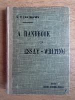 Camerlynck Guernier - A handbook of essay-writing (1938)