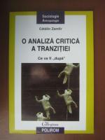 Anticariat: Catalin Zamfir - O analiza critica a tranzitiei. Ce va fi dupa