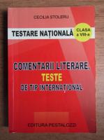 Anticariat: Cecilia Stoleru - Comentarii literare, teste de tip international