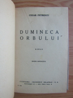 Cezar Petrescu - Dumineca orbului (1946)