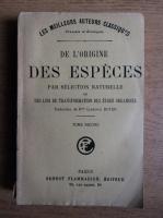 Charles Darwin - De l'origine des especes (volumul 2)