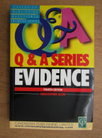 Anticariat: Christopher Allen - Q and A series, evidence